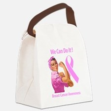 Breast Cancer Awareness Canvas Lunch Bag