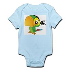 Cute Green Parrot Body Suit