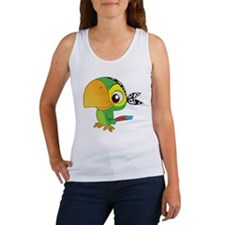 Cute Green Parro Tank Top
