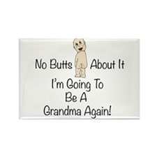 Baby Butt Grandma To Be Again Rectangle Magnet