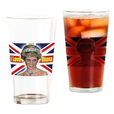 HRH Princess Diana Pro Photo Drinking Glass