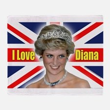 HRH Princess Diana Pro Photo Throw Blanket