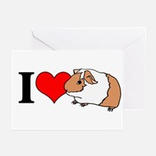 I (Heart) Guinea Pigs! Greeting Cards (Package of
