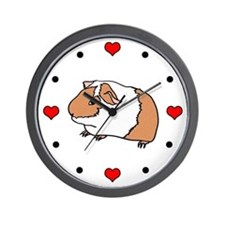 I (Heart) Guinea Pigs! Wall Clock