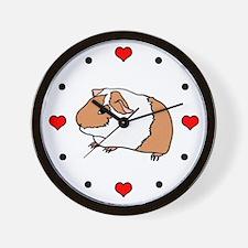 I (Heart) Guinea Pigs! Wall Clock
