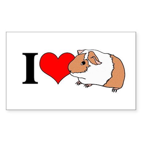 I (Heart) Guinea Pigs! Rectangle Sticker