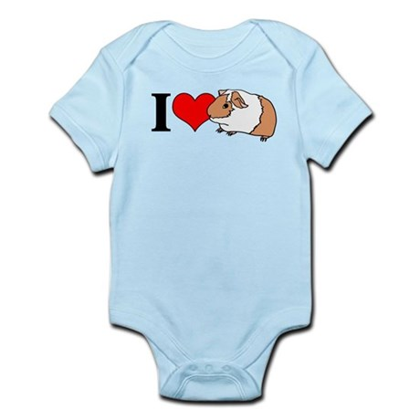 I (Heart) Guinea Pigs! Infant Bodysuit