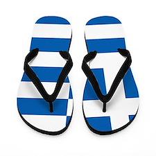 Flag of Greece Flip Flops