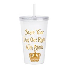 Alittle Crown.png Acrylic Double-wall Tumbler