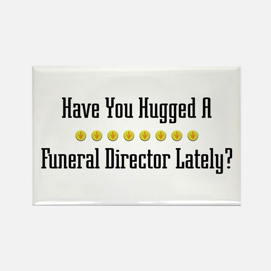 Hugged Funeral Director Rectangle Magnet