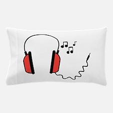 Musical Headphones Pillow Case