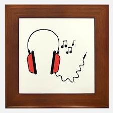 Musical Headphones Framed Tile