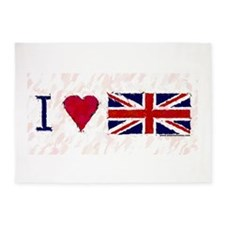 I LOVE ENGLAND 5'x7'Area Rug