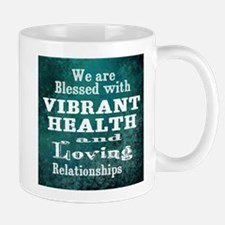 Vibrant Health Loving Relationships Mugs