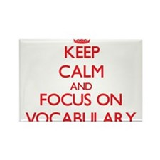 Keep Calm and focus on Vocabulary Magnets