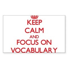 Keep Calm and focus on Vocabulary Decal
