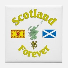 Scotland Forever.:-) Tile Coaster