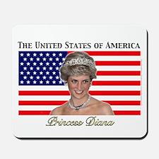 HRH Princess Diana USA Mousepad