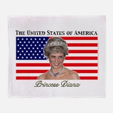 HRH Princess Diana USA Throw Blanket