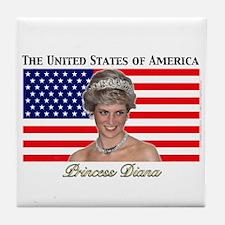 HRH Princess Diana USA Tile Coaster