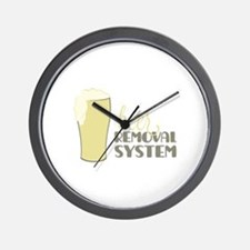 Beer Removal System Wall Clock