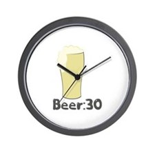 Beer:30 Wall Clock