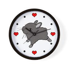 I Heart <3 Love Bunnies! Wall Clock