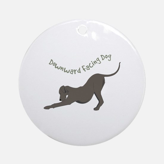 Downward Dog Ornament (Round)