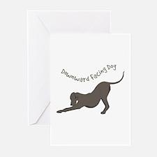 Downward Dog Greeting Cards