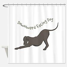 Downward Dog Shower Curtain