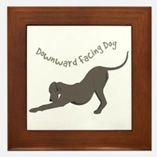 Downward Dog Framed Tile