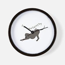 Downward Dog Wall Clock