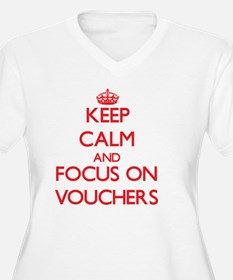 Keep Calm and focus on Vouchers Plus Size T-Shirt