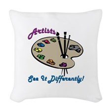 Artists See It Differently Woven Throw Pillow