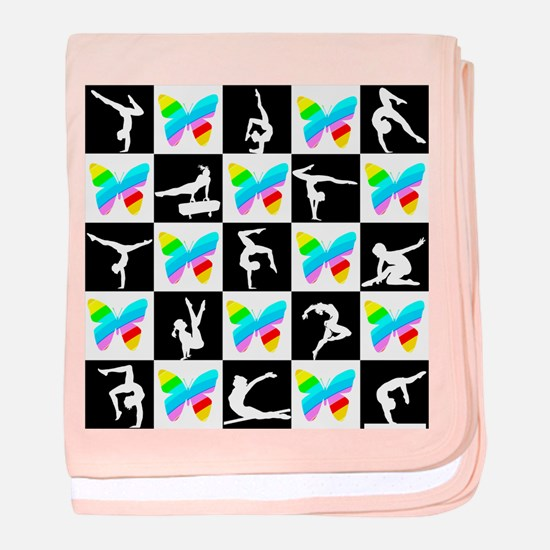 GRACEFUL GYMNAST baby blanket
