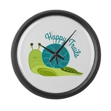 Happy Trails Large Wall Clock