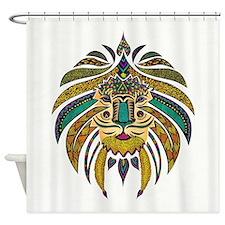Emperor Tribal Lion Shower Curtain