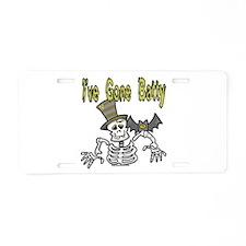 Gone Batty Aluminum License Plate