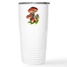 Mushroom Squirrel Travel Mug