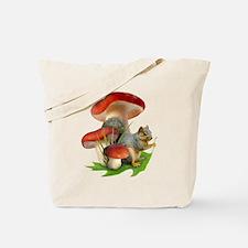 Mushroom Squirrel Tote Bag