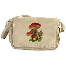 Mushroom Squirrel Messenger Bag