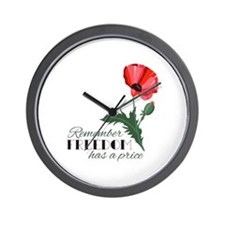 Price Of Freedom Wall Clock
