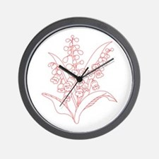 Lily Of Valley Wall Clock