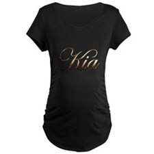 Gold Kia Maternity T-Shirt