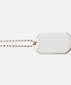 Illustration of Girl Scouts in a Line Dog Tags