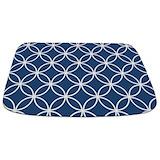 Navy blue Memory Foam Bathmats