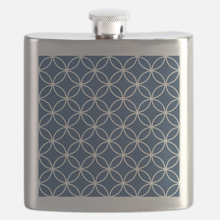 Cute Navy blue Flask