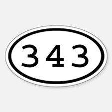 343 Oval Oval Decal