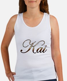 Gold name Kai Tank Top