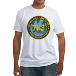 USS WILLIAM C. LAWE Fitted T-Shirt